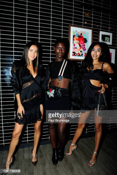 Ana Tanaka Jodie Smith and Nancy Gomez attends Columbia Pictures And The Cinema Society With Wild Turkey Longbranch Host The After Party For 'White...