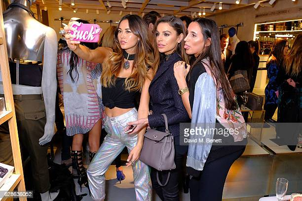 Ana Tanaka Lily Forescue and Misse Beqiri attends as Taylor Morris Eyewear and The Morgan Motor Company present their first collaboration at Harvey...
