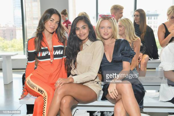 Ana Tanaka Nancy Gomez and Isabella Farrell attend the Nana Judy show in gallery I at New York Fashion Week The Shows at Spring Studio on September 6...
