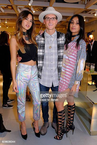 Ana Tanaka Ollie Proudlock and a friendattend as Taylor Morris Eyewear and The Morgan Motor Company present their first collaboration at Harvey...