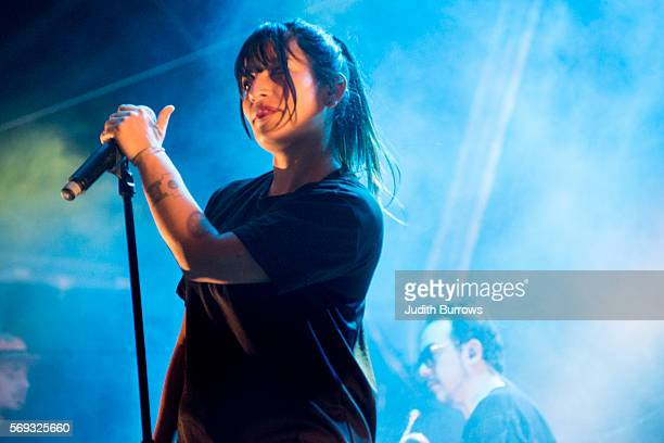 Ana Tijoux from Chile performs during the Festival Med world music festival in Loulé Portugal 2016