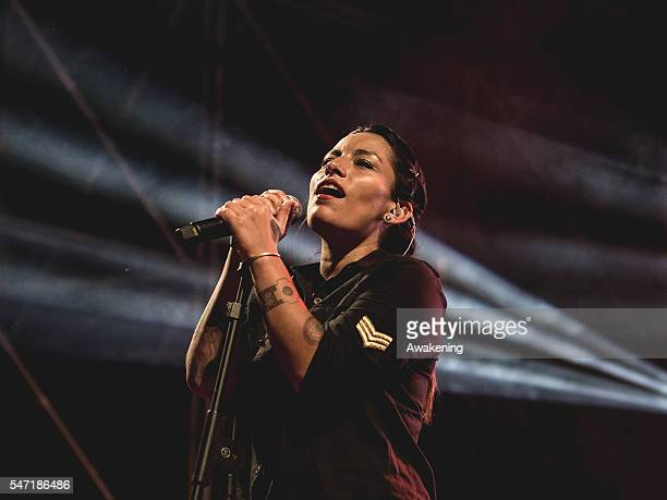 Ana Tijoux performs at Sherwood Festival at North Park Stadio Euganeo on July 13 2016 in Padova Italy