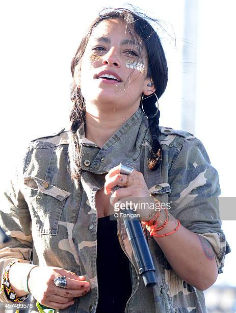 Ana Tijoux performs duing the 2014 Treasure Island Music Festival on October 18 2014 in San Francisco California