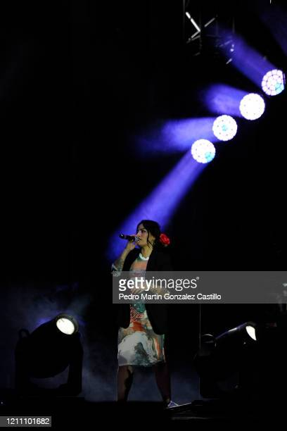 """Ana Tijoux performs during the """"Tiempo de Mujeres"""" festival at Zocalo on March 7 2020 in Mexico City Mexico"""