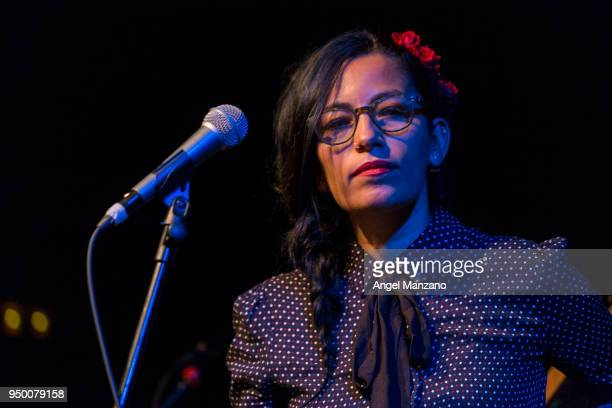 Ana Tijoux performs in concert at Galileo Galilei on April 22 2018 in Madrid Spain