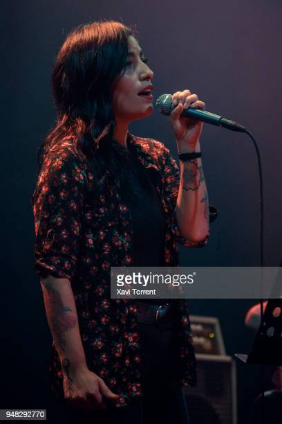 Ana Tijoux performs in concert at sala Barts during Guitar BCN 2018 on April 18 2018 in Barcelona Spain