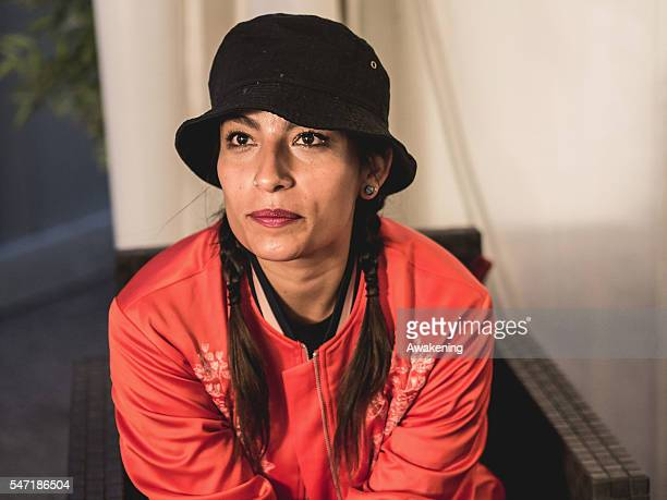 Ana Tijoux waits to perform at Sherwood Festival at North Park Stadio Euganeo on July 13 2016 in Padova Italy