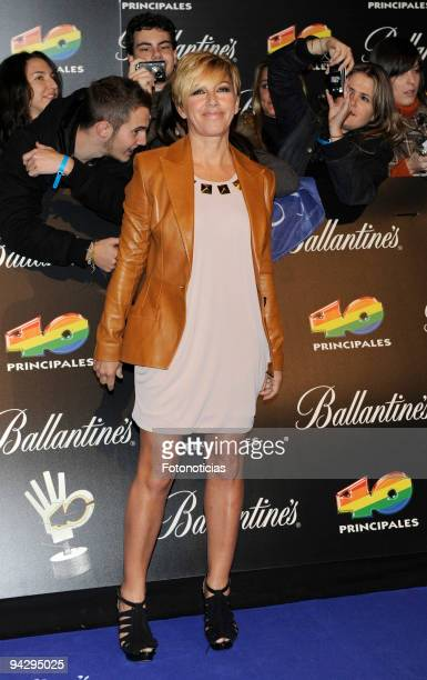 Ana Torroja arrives at the ''40 Principales'' Awards at the Palacio de Deportes on December 11 2009 in Madrid Spain
