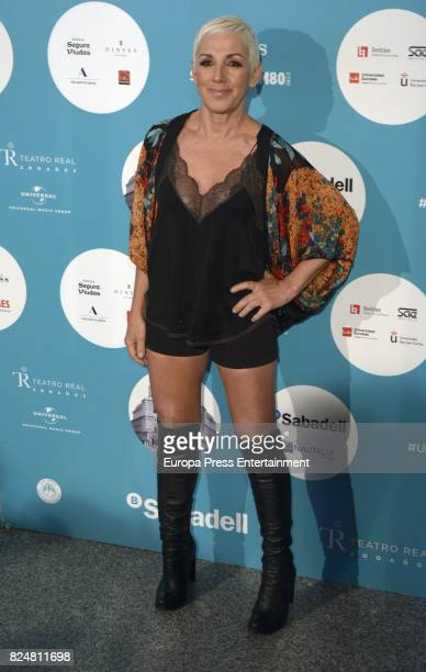Ana Torroja attends Rosario concert at the Royal Theatre on July 28 2017 in Madrid Spain
