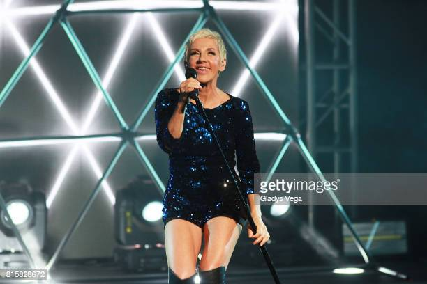Ana Torroja performs as part of her tour 'Conexion' on July 16 2017 at Centro de Bellas Artes in San Juan Puerto Rico