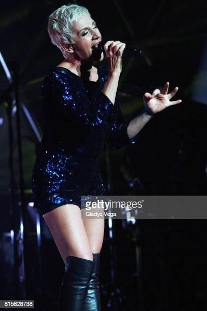 "Ana Torroja performs as part of her tour ""Conexion"" on July 16, 2017 at Centro de Bellas Artes in San Juan, Puerto Rico."