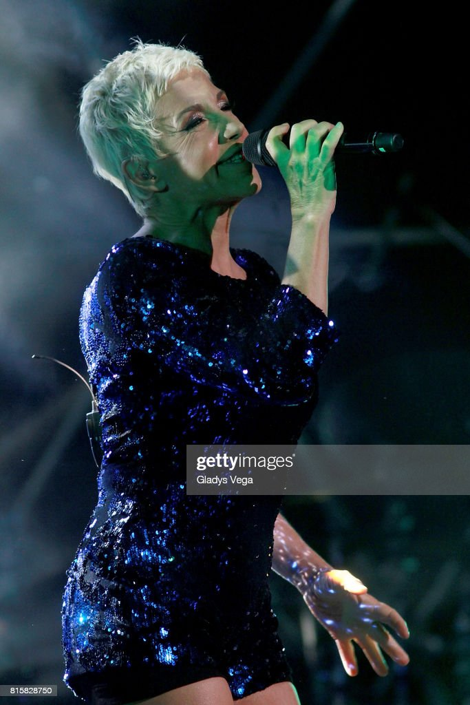 Ana Torroja performs as part of her tour 'Conexion' on July 16, 2017 at Centro de Bellas Artes in San Juan, Puerto Rico.