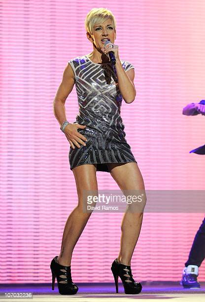 Ana Torroja performs during the 2010 Onda Awards at the Theatre Liceu on November 19 2010 in Barcelona Spain