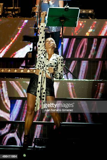Ana Torroja performs on stage during 'Cadena Dial' 25th Anniversary concert at Barclaycard Center on September 3 2015 in Madrid Spain