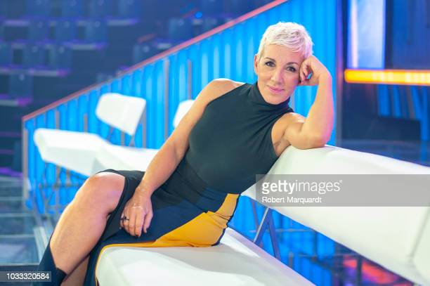 Ana Torroja poses during a presentation of the new season for 'Operacion Triunfo 2018' at the RTVE studios on September 14 2018 in Barcelona Spain