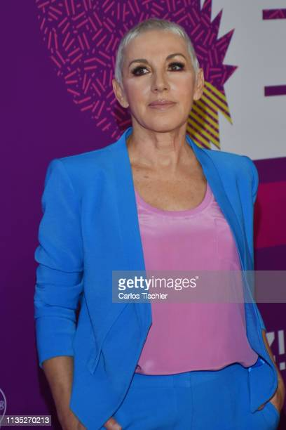 Ana Torroja poses for photos during Eres Awards 2019 red carpet at Campo Marte on March 11 2019 in Mexico City Mexico