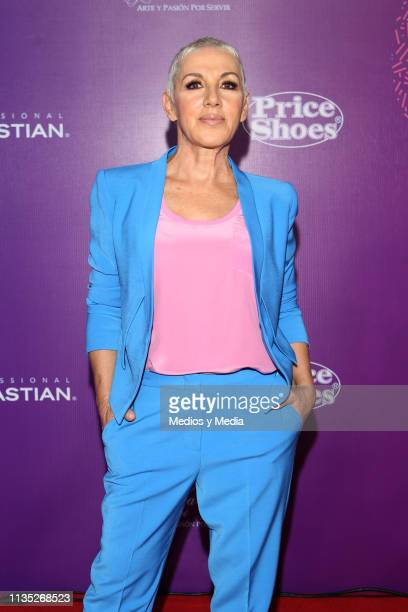 Ana Torroja poses on the red carpet during the 'Eres' Awards 2019 at Campo Marte on March 11, 2019 in Mexico City, Mexico.