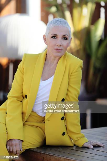 Ana Torroja presents her new single at Hotel ME on February 14 2019 in Madrid Spain