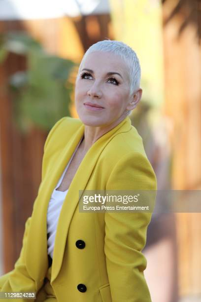 Ana Torroja presents her new single at Hotel ME on February 14, 2019 in Madrid, Spain.