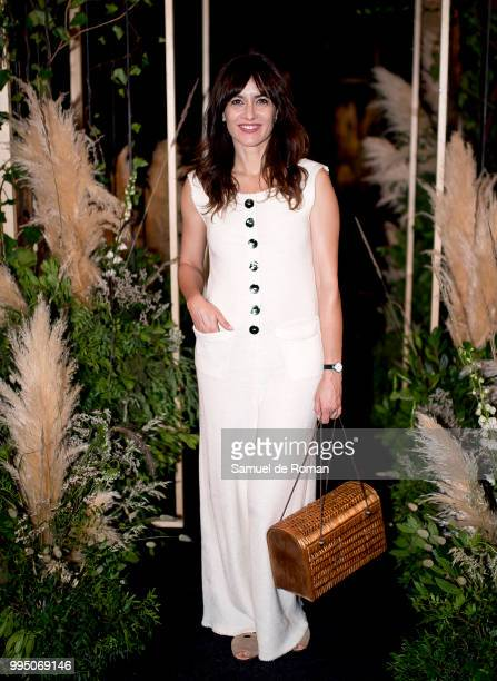 Ana Turpin attends the front row of Inunez show during Mercedes Benz Fashion Week Madrid Spring/Summer 2019 on July 10 2018 in Madrid Spain