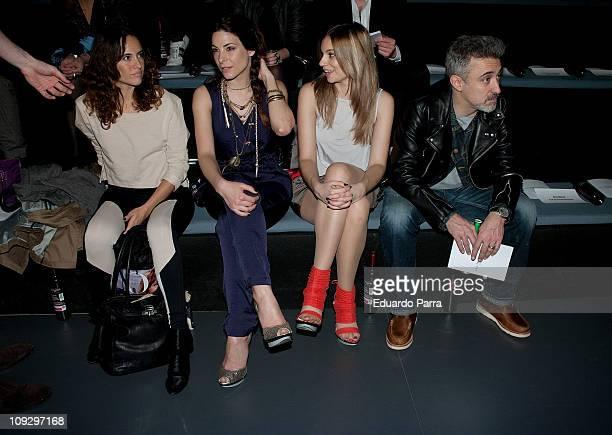 Ana Turpin Norma Ruiz and Sergi Arola attend the Agatha Ruiz de la Prada fashion show during the Cibeles Madrid Fashion Week A/W 2011 at Ifema on...