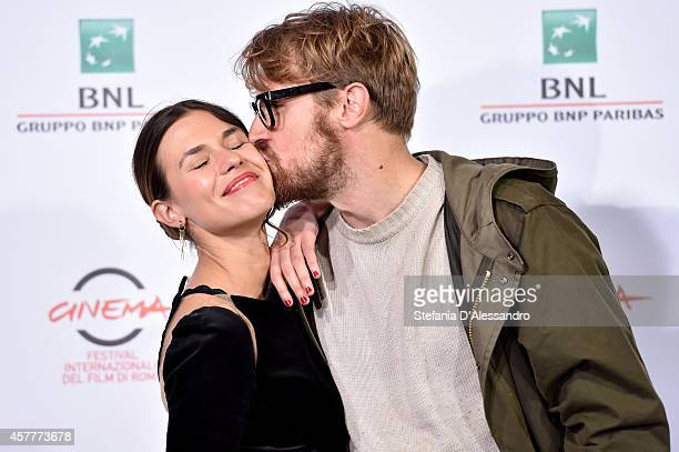 Ana Ularu and Lorenzo Sportiello attend the 'Index Zero' Photocall during the 9th Rome Film Festival on October 24 2014 in Rome Italy
