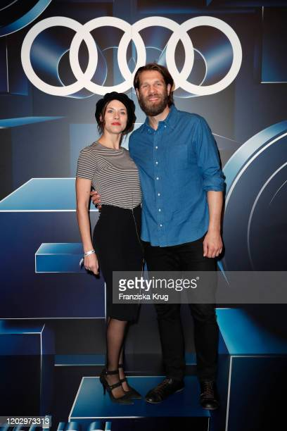 Ana Ularu and Marc Rissmann at the Audi Berlinale Brunch during the 70th Berlinale International Film Festival at Audi Berlinale Lounge on February...