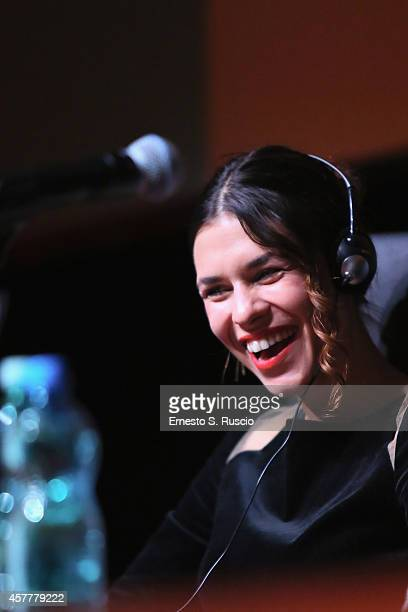 Ana Ularu attends the 'Index Zero' Press Conference during the 9th Rome Film Festival on October 24 2014 in Rome Italy