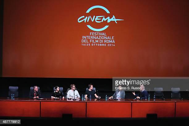 Ana Ularu Lorenzo Sportiello Simon Merrels Francesco Cioce and Claudio Corbucci attend the 'Index Zero' Press Conference during the 9th Rome Film...