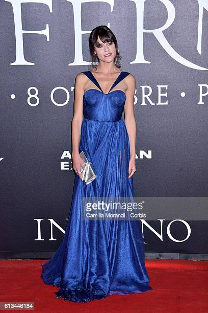 Ana Ularu walks the red carpet at 'Inferno' premiere at Opera di Firenze on October 8 2016 in Florence