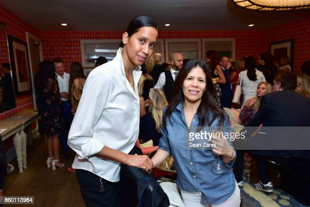 Ana Vazquez and Fay Ricotta attend the launch of The Collector Geneva's Sophie Bonvin Code Collection in Collaboration with artist Bill Claps at...