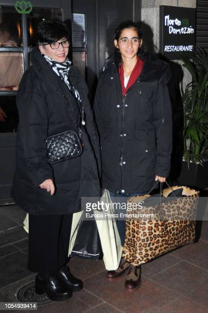 Ana Villa attends her daughter Alba Flores's 32th birthday party on October 28 2018 in Madrid Spain