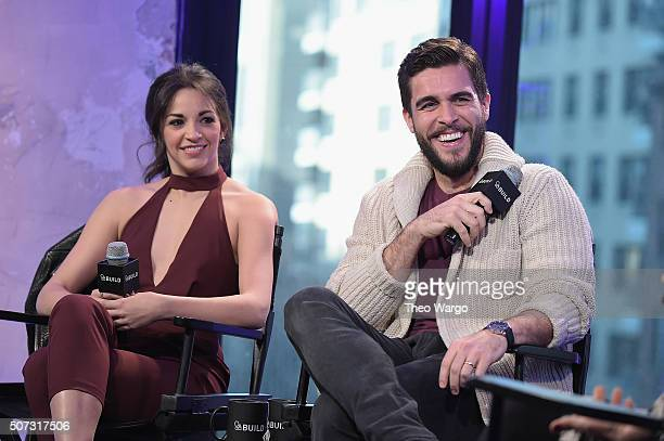 Ana Villafañe and Josh Segarra attend AOL Build Presents 'On Your Feet' at AOL Studios In New York on January 28 2016 in New York City
