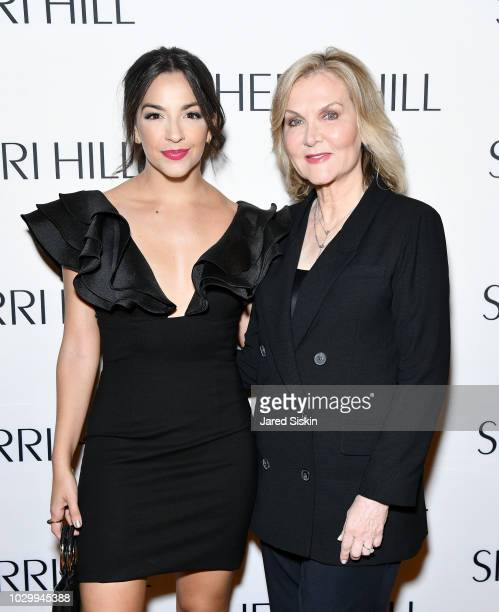 Ana Villafane and Sherri Hill attend the Sherri Hill Spring 2019 NYFW Backstage at Gotham Hall on September 7 2018 in New York City
