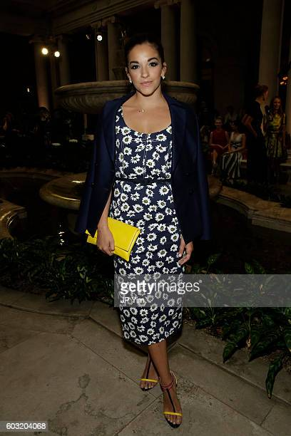 Ana Villafane attends the Carolina Herrera fashion show during New York Fashion Week on September 12 2016 in New York City