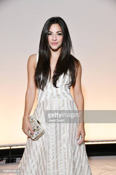 Ana Villafane attends the Dennis Basso Spring/Summer 2019 Collection Runway Show during New York Fashion Week at Cipriani 42nd Street on September 10...