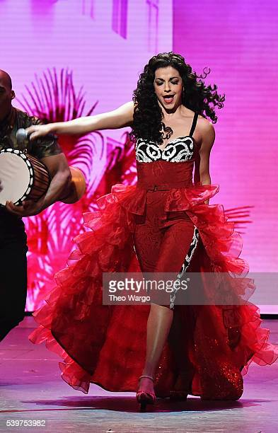 Ana Villafane of 'On Your Feet' performs onstage during the 70th Annual Tony Awards at The Beacon Theatre on June 12 2016 in New York City