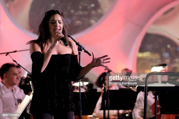 Ana Villafane performs onstage during Chrome Hearts & Baccarat celebrate The Miami Design District with Jesse Jo Stark, Mary Anne Huntsman & The...