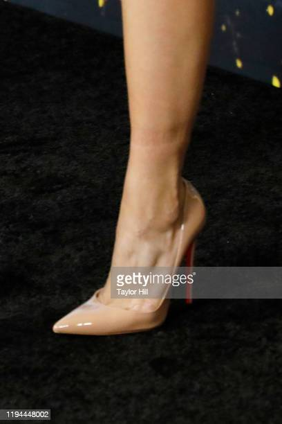 Ana Villafane shoe detail attends the world premiere of Cats at Alice Tully Hall Lincoln Center on December 16 2019 in New York City