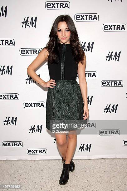 Ana Villafane visits 'Extra' at their New York Studios at HM in Times Square on November 18 2015 in New York City