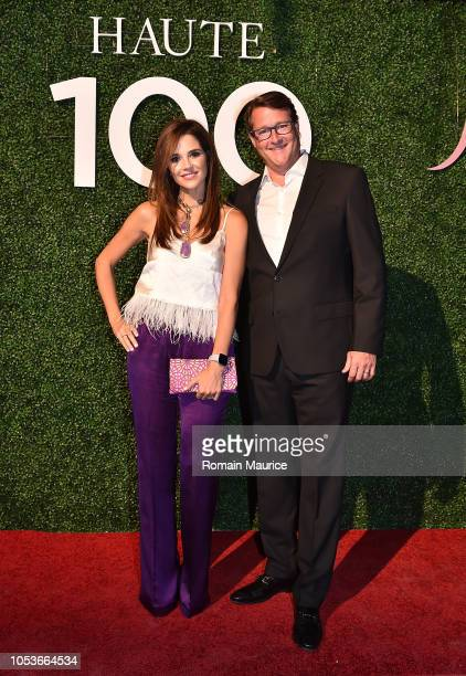 Ana Wolfington and Sean Wolfington attend Haute Living's Haute 100 10th Anniversary Party at Swan Miami on October 25 2018 in Miami Florida