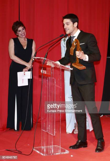 Anabel Alonso and Alejo Sauras attend 'Fotogramas Awards' gala at Joy Eslava on February 26 2018 in Madrid Spain