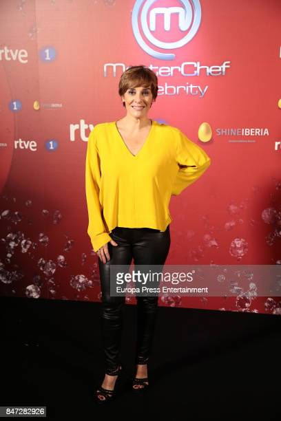 Anabel Alonso attends 'MasterChef Celebrity' 2 presentation on September 14 2017 in Madrid Spain