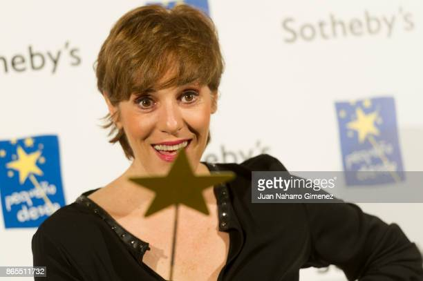 Anabel Alonso attends 'VI Gala Subasta Solidaria' photocall at Teatro Bankia on October 23 2017 in Madrid Spain