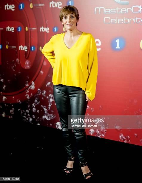Anabel Alonso during 'MasterChef Celebrity' 2 presentation on September 14 2017 in Madrid Spain