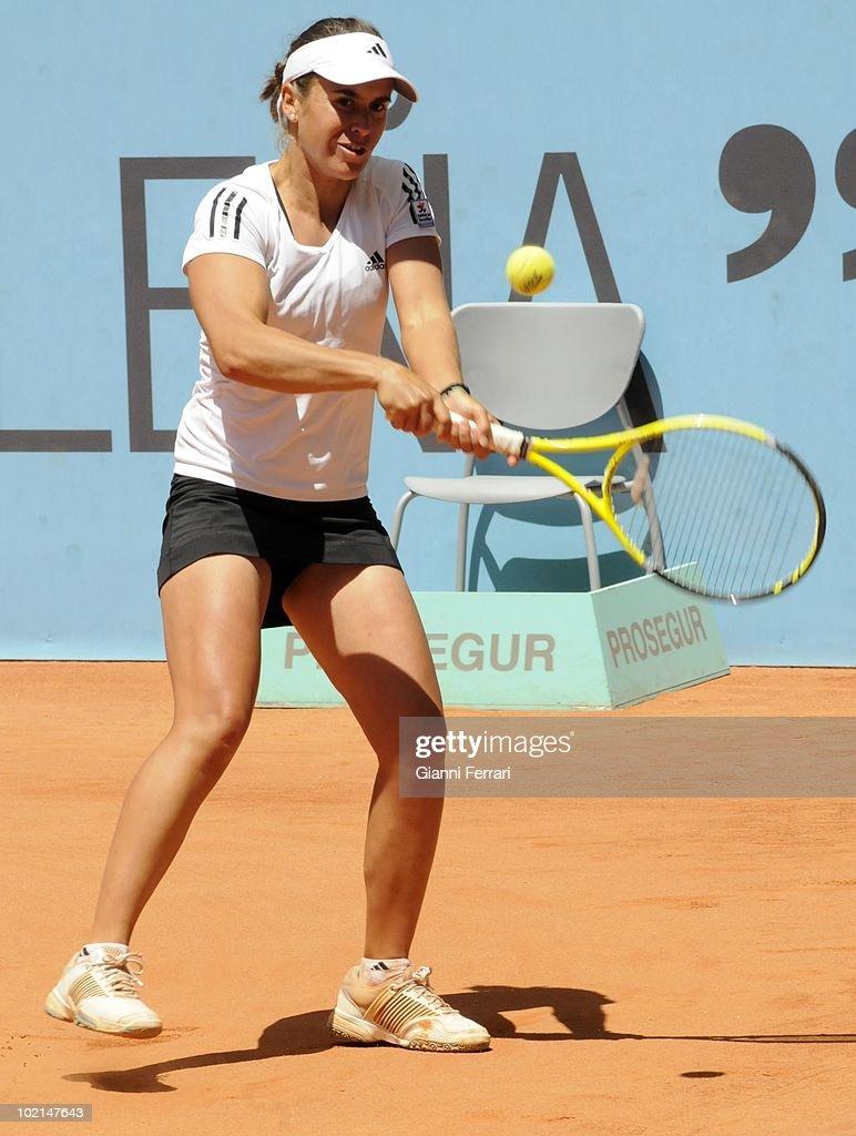Anabel Medina, ESP, in 'Mutua Madrilena Madrid Open' of tennis, 8th May 2010, in 'La Caja Magica'. Madrid, Spain.