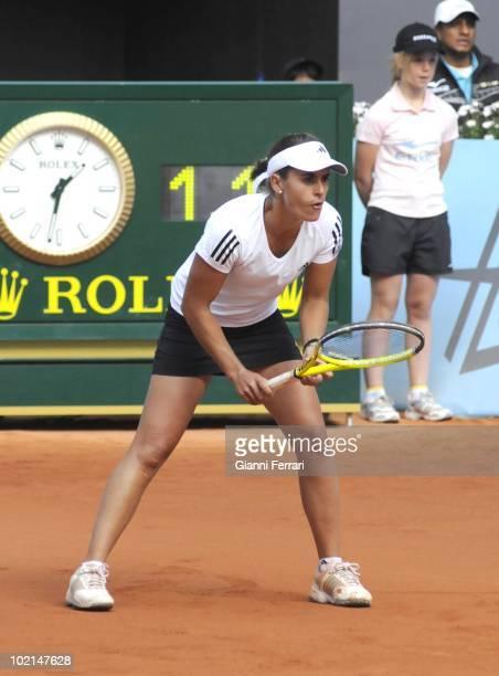 Anabel Medina, ESP, tennis in 'Mutua Madrilena Madrid Open' , 8th May 2010, in 'La Caja Magica'. Madrid, Spain.