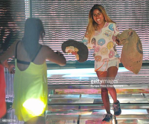 Anabel Pantoja and Chabelita Pantoja attend 'Supervivientes' semifinal gala on July 9 2015 in Madrid Spain