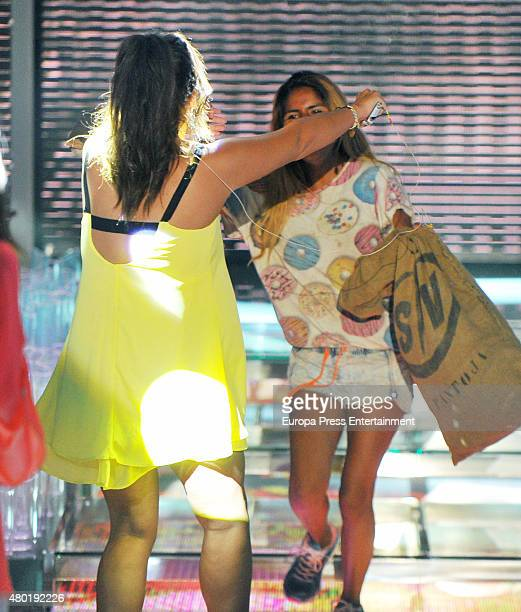 Anabel Pantoja and Chabelita Pantoja attend 'Supervivientes' semifinal gala on July 9 2015 in Madrid Spain