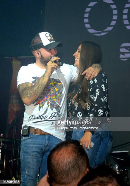 Anabel Pantoja attends Kiko Rivera's concert on April 6 2018 in Seville Spain
